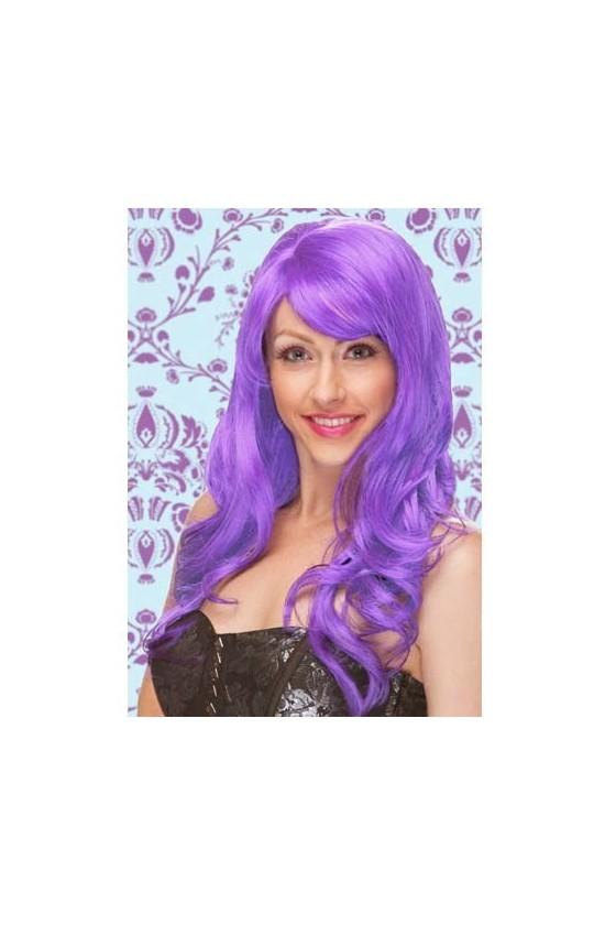 Peluca Purpura Rosada