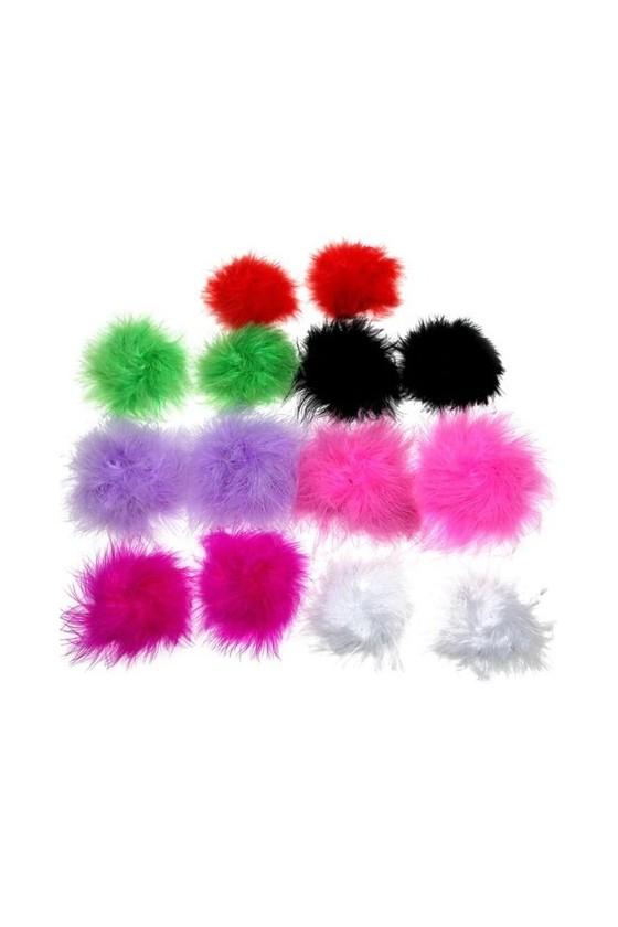 Pezoneras de peluche Colores