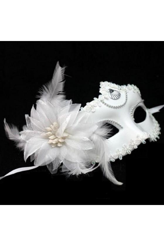 Antifaz Blanco Elegante