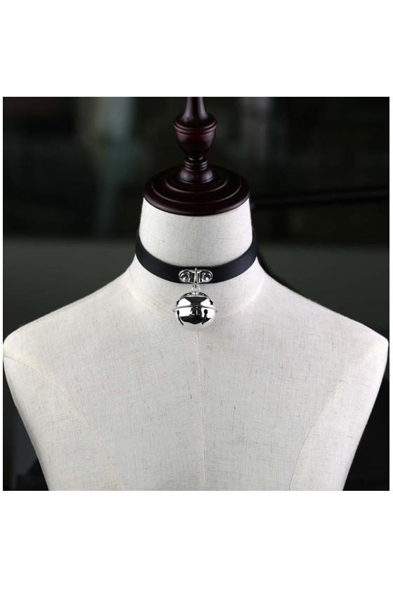 Collar BDSM con Cascabel